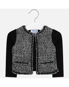 Mayoral Girls Knit Jacket Size 4-9 | 4406 Black