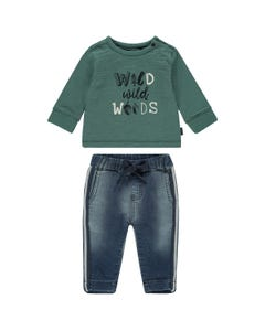 Noppies Boys 2Pc Top And Pant Set Size 3m-18m | 94631 94549 Green