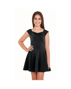 DRESS BLACK LIV FLARE SKIRT SLEEVELESS