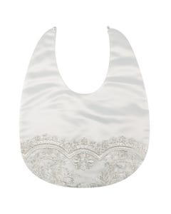 BIB IVORY EMBROIDERED WITH SILVER THREAD TRIM