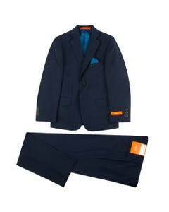 2 PC SUIT HUSKY FIT NAVY TALLIA WOOL
