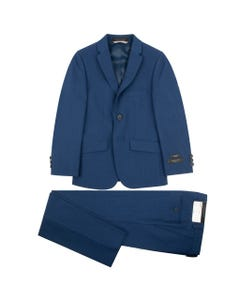 SUIT BLUE TONE ON TONE SKINNY FIT