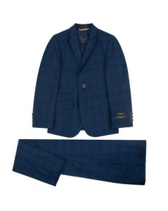 SUIT BLUE NAVY SQUARES SKINNY FIT