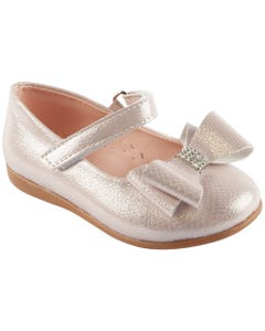 SHOE ROSE SHIMMER BOW WITH RSTONE TRIM