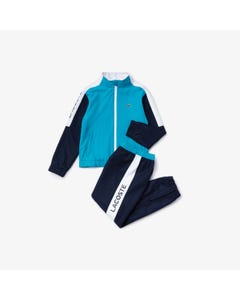 TEAL & WHITE TRACKSUIT EMBROIDERED LOGO