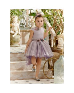 TOP & SKIRT & HRCLIP LILAC REMOVABLE TAIL FLOWER APPLIQUE