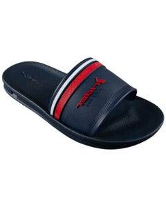 Rider Boys Shoe Slides Navy Red Stripe Child Rider Logo Size 12-4 | Infant Boy Flip Flops 11495 Navy