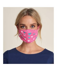KIDS & ADULT FACE MASK NON MEDICAL HEARTS PINK