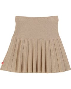 SKIRT GOLD SPARKLE IMITATION PLEATS