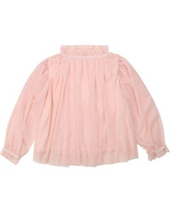 Billieblush Girls Blouse Pink Tulle Layers Gold Star Applique Size 2-12 | Girls School Shirts 15763 Pink