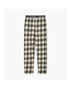 CHRISTMAS PAJAMA PANT MENS CREAM & BLACK PLAID