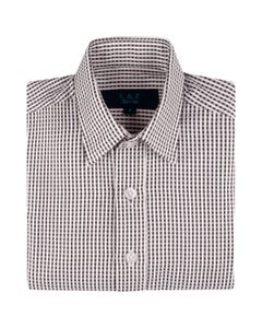 SHIRT BLACK & WHITE GINGHAM PRINT
