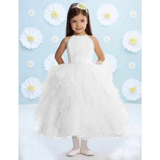 WHITE TULLE GOWN