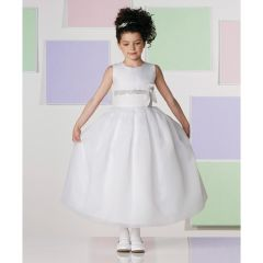 WHITE ORGANZA GOWN