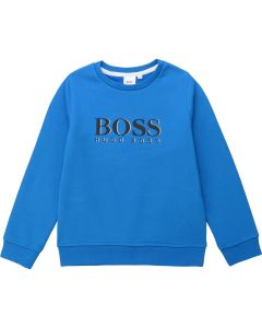 Hugo Boss Boys Logo Sweater Size 4-16 | J25E17 Blue