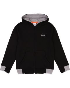 Hugo Boss Boys Hooded Pocket Cardigan Size 4-16 | J25E53 Black