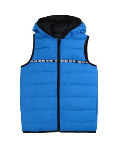 Hugo Boss Boys Puffer Vest Reversible Size 4-16 | J26383 Blue