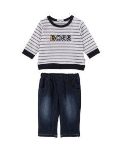Hugo Boss Boys 2Pc Pant Set Size 1M-18M | J9K061 White