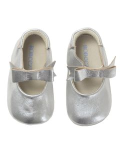 Robeez Girls Special Occasion Shoes Size 3m-12m | R9123113 Silver