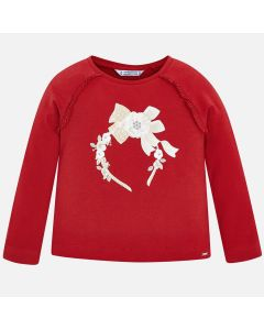 Mayoral Girls Long Sleeve T-Shirt Size 2-9 | 4005 028 Red