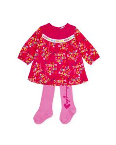 Agatha Ruiz de la Prada Girls 2Pc Dress And Tights Size 3m-24m | 8595W19 R01 Red