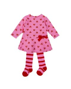 Agatha Ruiz de la Prada Girls 2Pc Dress And Tights Size 3m-24m | 8223W19 PO2 Pink