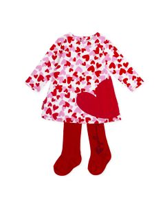 Agatha Ruiz de la Prada Girls 2Pc Dress And Tights Size 3m-24m | 8227W19 ROO Red