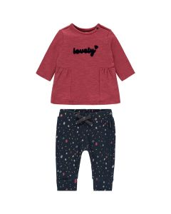 Noppies Girls 2Pc Dress And Pant Set Size 1m-18m | 94667 94676 Red
