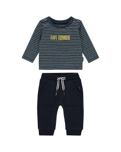 Noppies Boys 2Pc Shirt And Pant Set Size 1m-18m | 94633 94645 Navy
