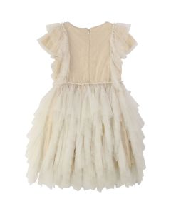 Billieblush Girls Gold Sequin Dress Size 2-10 | U12507 Cream