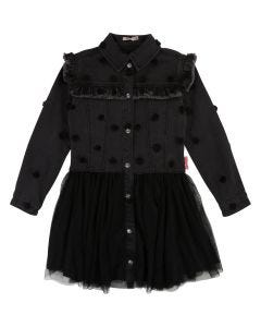 Billieblush Girls Black Denim Dress Size 4-12 | U12518 Black