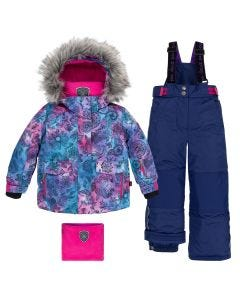 Deux par Deux Girls Snowsuit Size 2-14 | B10E802 598 B Blue