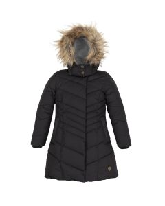 Deux par Deux Girls Hooded Jacket Size 3-14 | B20W59 999B Black