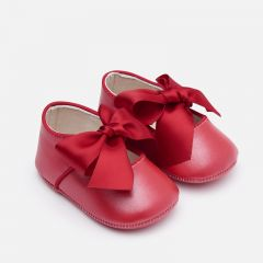 Mayoral SHOE MARY JANE RED SATIN BOW Sizes 15-19 | 9214 RED