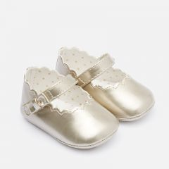Mayoral SHOE GOLDEN PATENT MARY JANE SCALLOPED EDGE Sizes 15-19 | 9217 GOLD
