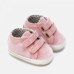 Mayoral SHOE ROSE SPARKLE TRIM VELCRO CLOSURE Sizes 16-19 | 9219 PINK