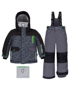 BLACK & GREEN SNOWSUIT