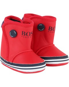 Hugo Boss Girls Red Boots | Kids Shoes J99061 Red