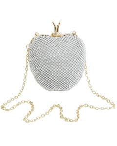 APPLE SHAPED JEWELED PURSE