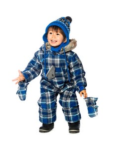 BLUE & GREY SNOWSUIT