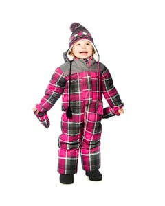 PINK & GREY SNOWSUIT