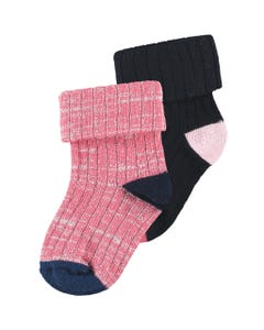 PINK & NAVY 2-PACK SOCKS