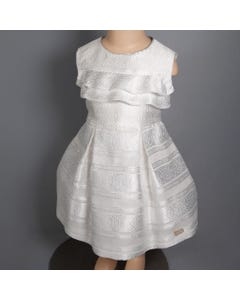 WHITE ORGANZA DRESS
