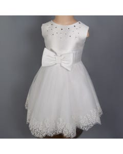 WHITE TULLE LACE DRESS