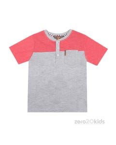 GREY & RED T-SHIRT