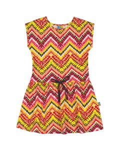 ZIGZAG PRINT DRESS