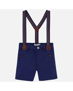 NAVY SHORTS WITH SUSPENDERS