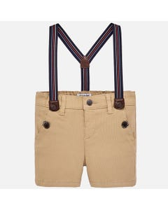 BEIGE SHORTS WITH SUSPENDERS