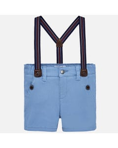 BLUE SHORTS WITH SUSPENDERS