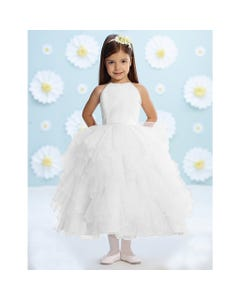WHITE TULLE GOWN 116366